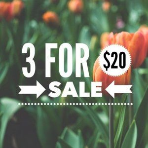 Bundle any 3 items with a 🌷 for $20